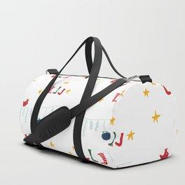Holiday bird white Duffle Bag