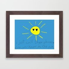 sun glasses Framed Art Print
