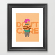 Ms. No Care Framed Art Print