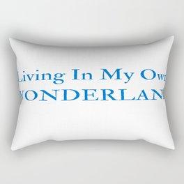 Living In My Own Wonderland in Blue Rectangular Pillow