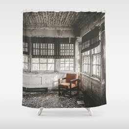 Abandoned School Lounge Shower Curtain