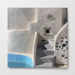 Santorini Steps Metal Print