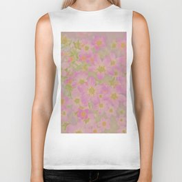 Pink Floral, The Earth Laughs In Flowers Biker Tank