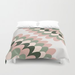 Dahlia at Office Duvet Cover