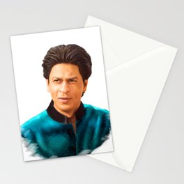 Shah Rukh Khan is a King of Bollywood, Digital Painting Stationery Cards