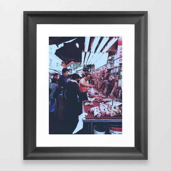 wet market in Hong Kong Framed Art Print
