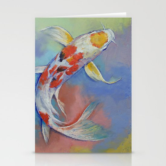 Butterfly Koi Fish Stationery Cards By Michaelcreese Society6