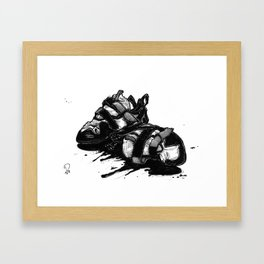 A DIFFERENT KETTLE OF FISH Framed Art Print