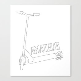 Scooter Amateur Canvas Print