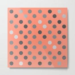 Polka Proton Pink Metal Print