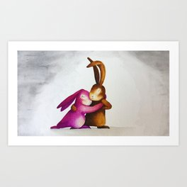 Dancing, to encourage affection Art Print