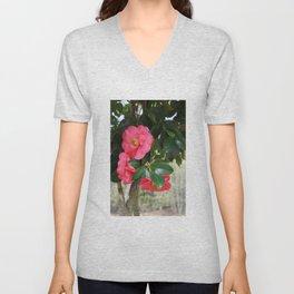 camellia flower Unisex V-Neck