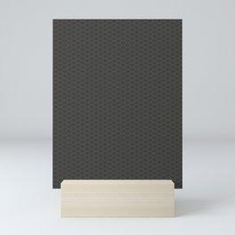 Pantone Pewter Gray Stitch Scallop, Wave Pattern Mini Art Print