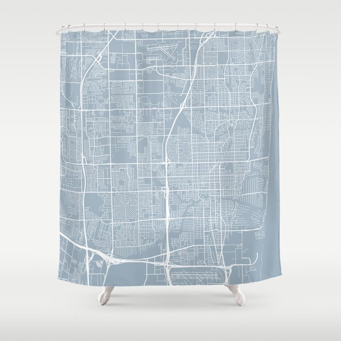 Fort Lauderdale Map, USA - Slate Shower Curtain