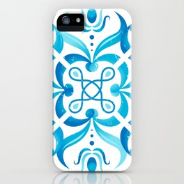 Traditional Seamless Mediterranean Ornament. Tile Pattern in Majolica Style iPhone Case