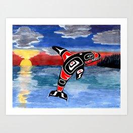 northwest coast killer whale Art Print