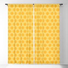 Golden Yellow Mid Century Modern Double Quatrefoil Blackout Curtain