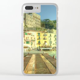 Sorrento Waterfront Clear iPhone Case