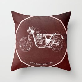 Royal Enfield Bullet 500 - For Some There's Therapy, For The Rest Of Us There's Motorcycles Throw Pillow