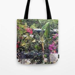 Through a garden gate... Tote Bag