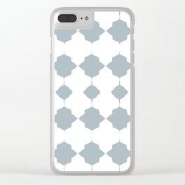Blue_Geo_Love_ Clear iPhone Case