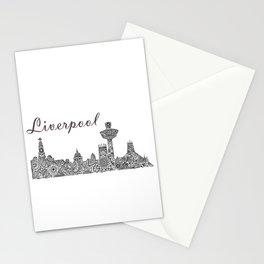Liverpool City Skyline Stationery Cards