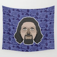 big lebowski Wall Tapestries featuring The Dude - The Big Lebowski by Kuki
