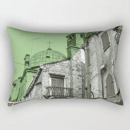 green Venice Rectangular Pillow