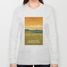 Grasslands National Park Poster Long Sleeve T-shirt