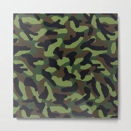 Green Camo Camouflage  Metal Print