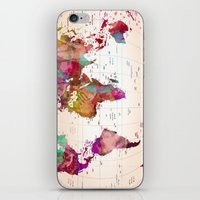 map iPhone & iPod Skins featuring MAP  by mark ashkenazi