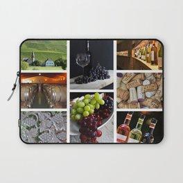 Home Bar Decor - Wine Vineyard Collage Laptop Sleeve