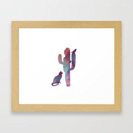 Cactus art Framed Art Print