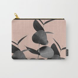 Eucalyptus Leaves Black Gray White Pale Terracotta #1 #foliage #decor #art #society6 Carry-All Pouch
