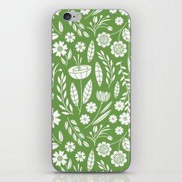 Blooming Field - green iPhone Skin