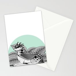 Poisonous Dragon-Teal Palette Stationery Cards