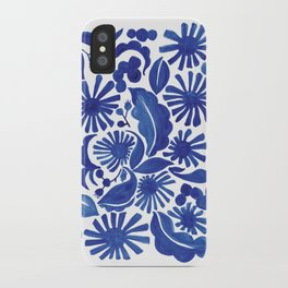 Blue Floral iPhone Case