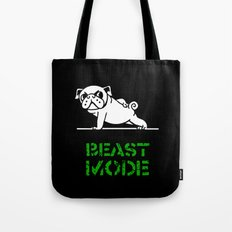 Beast Mode Pug Tote Bag