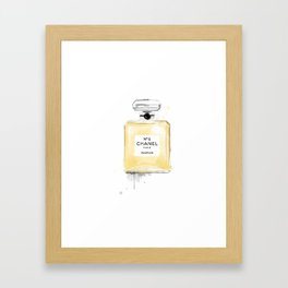 Perfume bottle fashion yellow Framed Art Print
