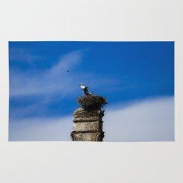 Storks on the nest Rug