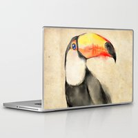toucan Laptop & iPad Skins featuring Toucan by akaori_art