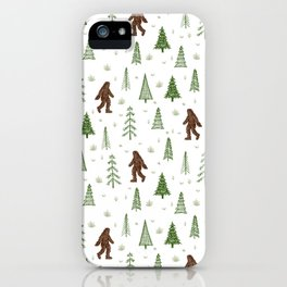 trees + yeti pattern in color iPhone Case