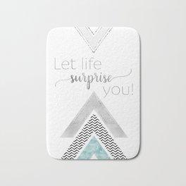 GRAPHIC ART Let life surprise you | mint Bath Mat