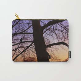 Bird watching the sunset Carry-All Pouch