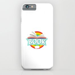 Take A Look It Is In A Book Motive for a Bookworm iPhone Case