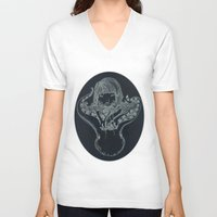 underwater V-neck T-shirts featuring Underwater by Marie Toh