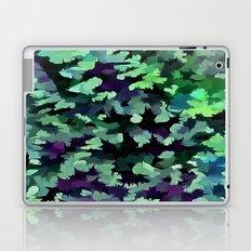 Foliage Abstract Pop Art In Jade Green and Purple Laptop & iPad Skin