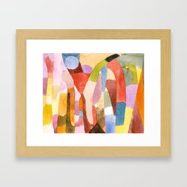 Movement of Vaulted Chambers by Paul Klee, 1915 Framed Art Print