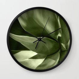 Green Agave Plant Wall Clock