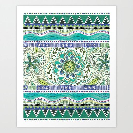 Boho Bloom Art Print